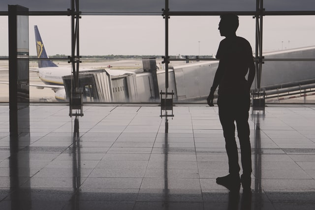 Guy on an airport